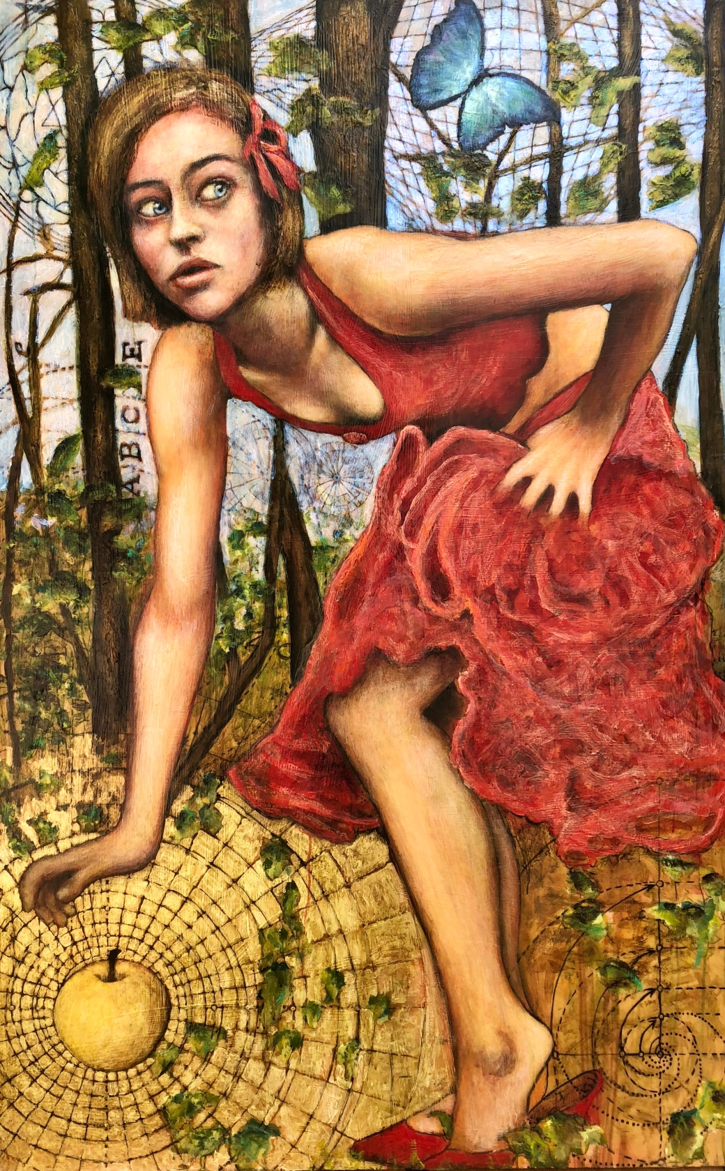 Girl with Golden Apple 70x44