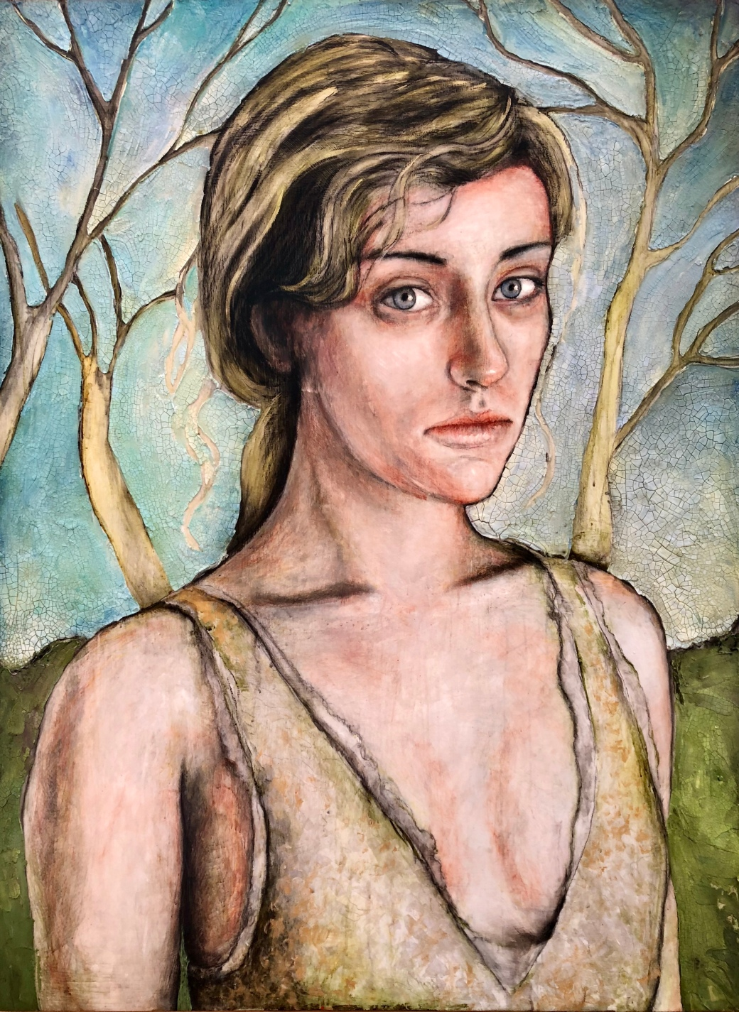 Girl with Trees