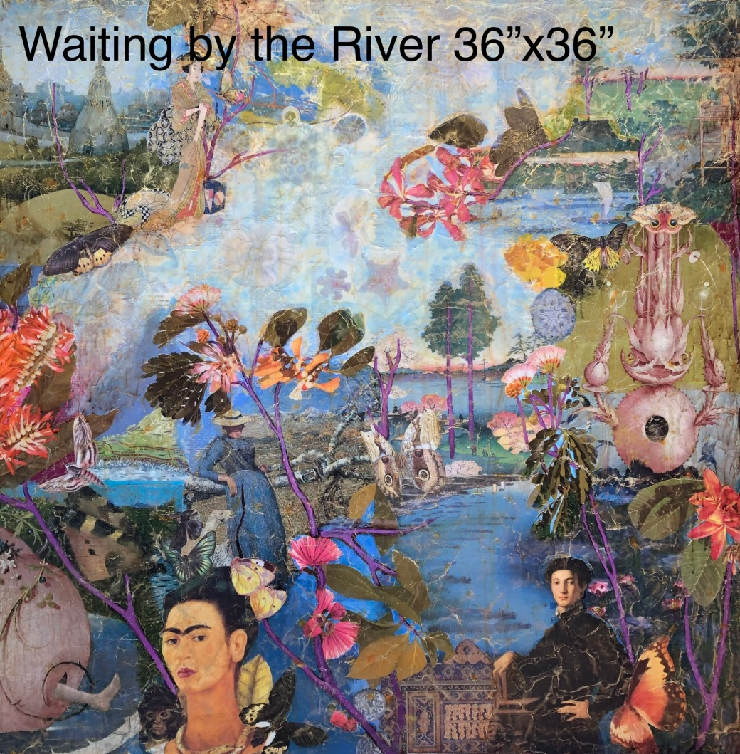 Waiting by the River 36x36