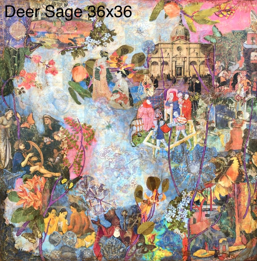 Deer Sage 36x36